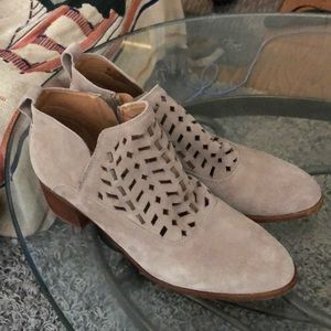 Franco Sarto beige ankle booties